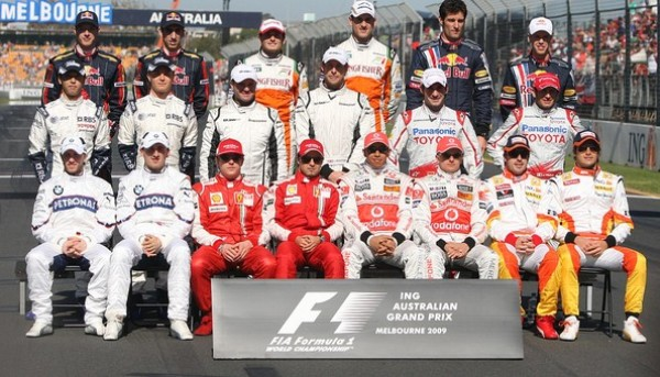 2009 Australian GP drivers photo